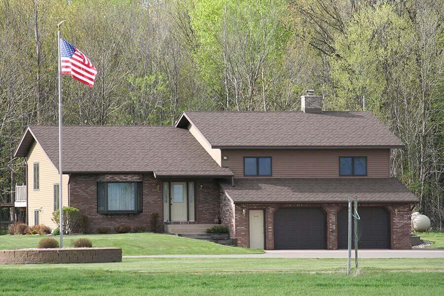 Asphalt roofing installation in North East Wisconsin