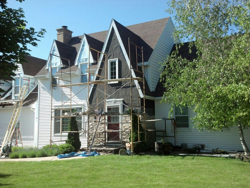 Siding installation in Appleton
